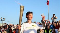 Olympic torch: Crowds greet flame's tour of south Wales (Matt Smith the 11th Doctor)