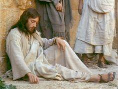 Robert Powell playing Jesus Christ  (Jesus of Nazareth, 1977)