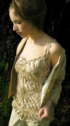 Hairpin Lace Crochet Pattern: Lotus Smock Dress and Camisole ...love this pattern
