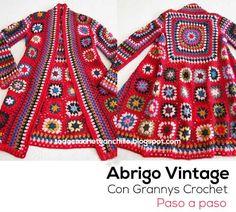 Todo crochet: Aprende a tejer tu abrigo vintage / Paso a paso