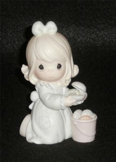 Precious Moments Figurine It Is No Secret What God Can Do Easter Seal #531111