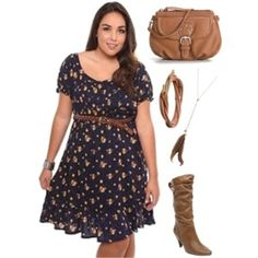 Country style dresses plus size « Clothing for large ladies