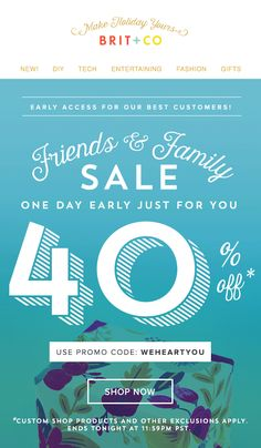 Friends + Family Sale animated gif email design