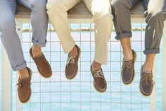 Add refined style to your casual looks with our handsome leather boat shoes.