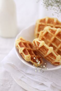 waffles with grapefruit zest.