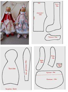 Personalized baby gifts Kids toys Stuffed toy Gift for sisters Bunny doll Fabric toy Rag doll Bunny plush Bunny Rabbit Sisters - SalvabraniStylowa kolekcja inspiracji z kategorii diy zrób to sam – ArtofitHare and baby Doll Clothes Patterns, Doll Patterns, Sewing Patterns, Sewing Crafts, Sewing Projects, Rabbit Crafts, Chicken Crafts, Fabric Animals, Fabric Toys