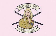 """Kaol Porfírio criou a série Fight like a Girl para provar que """"lutar como uma garota"""" não é ofensa coisa nenhuma, veja pelas suas personagens ilustradas."""