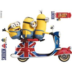 Stickers Geant Vespa Les Minions - Taille : Taille Unique Vespa, Moped Scooter, Minion 2015, Scooter Drawing, Honda Ruckus, Universal Pictures, Electric Scooter, Bowser, 3d Printing