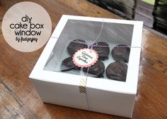 Create your own window box with cupcake holder insert