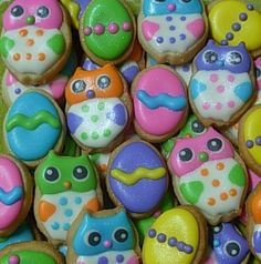 Mini Easter Owl Sugar Cookie Bites