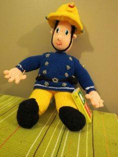 Knitted Fireman Sam