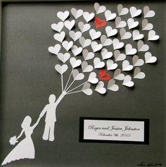 cadeau mariage original: tableau romantique à accrocher