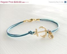 CIJ Sale 10% OFF Sailor Anchor Jewelry Bracelet, 14K Gold Anchor, Personalized Jewelry, Ocean Bracelet, Sea Beach, Gift for Her