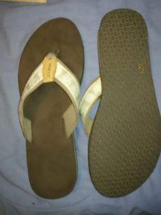 245015ea4 Women s Maine Isle Flip-Flops Seashell Motif-SZ 11  fashion  clothing