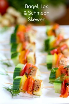 Bagel, Lox & Schmear Skewer :  What Jew Wanna Eat  --- pp: ....= le Bagel revisité !!!