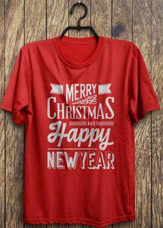 Buon Natale e felice anno nuovo (bianco) - Natale divertenti t-shirt, nero venerdì, giorno di Santo Stefano, Natale Blowout liquidazione vendita