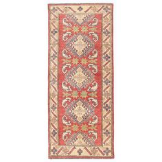 This rug is a unique piece of world art that will enhance your living space. Kazaks are a type of Armenian rug that were woven in the south of the Caucasus region, between Tiflis and Erevan. The produ Hallway Runner, Wool Runners, Home Decor Outlet, Oriental, Rugs, Type, Space, Unique, Art