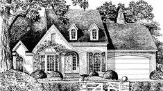 Garden Walk - Gary/Ragsdale, Inc. | Southern Living House Plans 2420 sq ft, tandem garage :(   Nice curb appeal