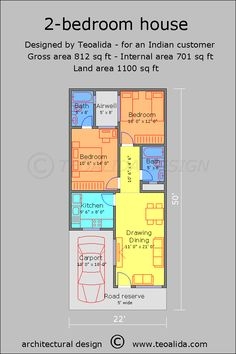 60 X 40 Story and Half House Plans Fresh House Floor Plans 50 400 Sqm Designed by Teoalida - Home Inspiration 2bhk House Plan, Narrow House Plans, Open Floor House Plans, Cottage Style House Plans, House Layout Plans, Simple House Plans, Duplex House Plans, Garage House Plans, House Plans One Story