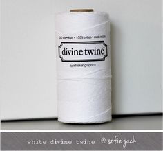 White Solid Divine Twine 20 yards by sofiejack on Etsy