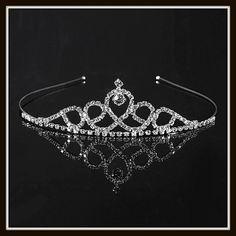 Stunning Frozen Inspired Swirl Rhinestone Birthday Wedding Flower Girl Princess Photo Prop Tiara Headband