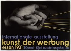 Max Burchartz Kunst der Werbung litografia x Collection Merrill C. Berman International Exhibition of Advertising Art Essen (datas e locais listados). Agatha Christie, Moma, Poster Ads, Poster Prints, Herbert Bayer, Laszlo Moholy Nagy, Catalog Cover, Film Studies, Design Movements