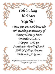 50th Anniversary Party!