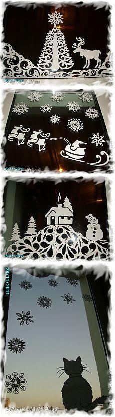 Zdobí okno pre nový rok alebo vianočné príbeh na okno - Hostia v dome - 1000 spôsobov, ako pobaviť hostí!