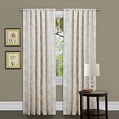 @Overstock - Decorate your home with this gorgeous window panel with faux silk construction. Rod pocket slides onto curtain rod for easy installation.   http://www.overstock.com/Home-Garden/Lush-Decor-Beige-84-inch-Circle-Charm-Curtain-Panel/6537483/product.html?CID=214117 $26.57
