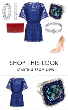 """""""Untitled #22812"""" by edasn12 ❤ liked on Polyvore featuring Milly, Christian Louboutin, Tacori and Chanel"""