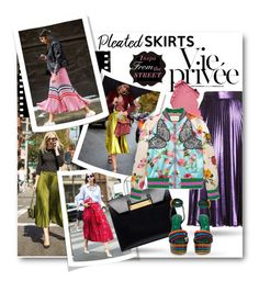 #Pleated Skirts - Inspo From The STREET by nikkisg on Polyvore featuring Gucci, Sergio Rossi, Balenciaga and Chanel