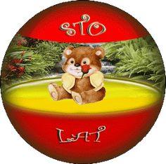 Urodziny i imieniny: Gify urodzinowe Free Printables, Christmas Bulbs, Happy Birthday, Holiday Decor, Vintage, Colorful Wallpaper, Flowers, Happy Brithday, Christmas Light Bulbs