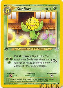 Pokemon Neo Genesis Card 50 - Sunflora $0.99-$4.00
