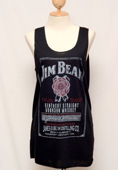Jim Beam Whiskey Black tank top Tunic Unisex by Passion2flower