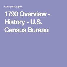 1790 Overview - History - U.S. Census Bureau