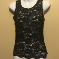 VICTORIA Secret lace Tank Top( gold label ) 50% nylon , 50% rayon , lace top. Victoria's Secret Tops Tank Tops