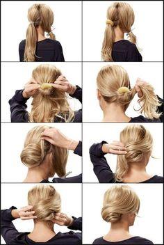 Frisur selber machen hochsteckfrisur – Moderne männliche und ... | Einfache Frisuren