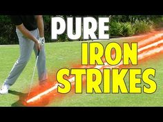 Golf Tips For Beginners Best Tip To Strike Your Irons Pure Golf Videos Golf Putting Tips, Golf Videos, Golf Instruction, Golf Tips For Beginners, Perfect Golf, Golf Player, Golf Training, Golf Quotes, Golf Lessons