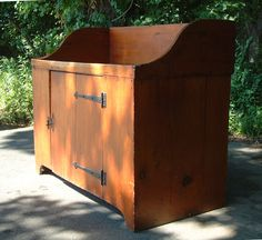 c1780 american country kitchen pine dry sink ...~♥~