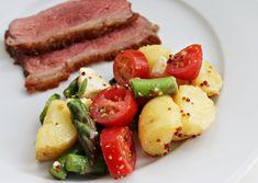 Kartoffelsalat, serveret, juni 2013