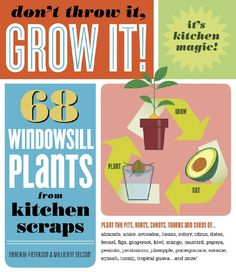"""Don't Throw It, GROW IT!"" by Deborah Peterson and Millicent Selsam. Looks like a great way to appreciate where food comes from and have a kitchen garden!"