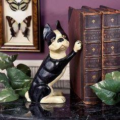 Iron Terrier Doorstop/Bookend ~ #irondoorstop #books