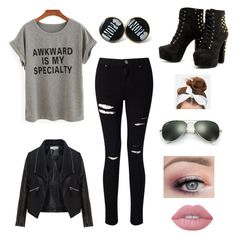 """""""Untitled #3"""" by daisy-caulkin on Polyvore featuring Miss Selfridge, Zizzi, Lime Crime, Ray-Ban and New Look"""