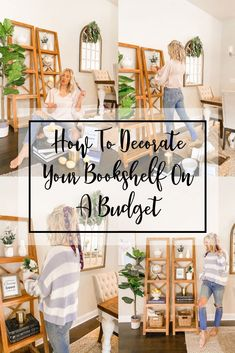 How To Decorate Your Shelves On A Budget - Blush & Camo  home decorating | home decor tips | home decor on a budget | budget friendly home decor | bookshelf styling | how to style a bookshelf | how to style a bookshelf on a budget