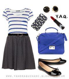 Y. A. Q. - Blog de moda, inspiración y tendencias: [Y ahora qué me pongo con] Una falda de lunares
