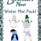 TpT freebie=This Winter Clipart Mini Pack contains 4 images: •Penguin- Cloth Textured •Penguin- Black and White •Snowman- Cloth Textured •Snowman-Black and...