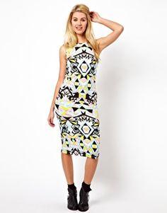 Image 1 ofGlamorous Midi Dress In Geo Swirl