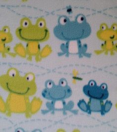Anti-Pill Fleece Fabric Frogs And Bugs