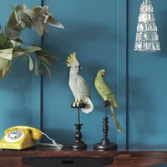 Tropical Birds On Perch | Quirky Finds | Graham & Green