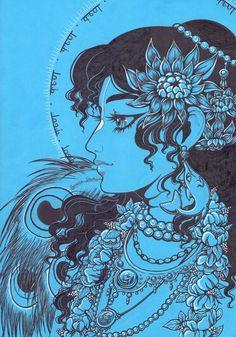 ॐ Krsna - Flowers of Vrindavan Krishna Drawing, Krishna Art, Hare Krishna, Lord Shiva Painting, Krishna Painting, Lord Krishna Images, Krishna Pictures, Lord Krishna Wallpapers, Madhubani Art